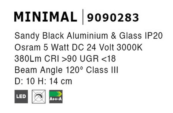 Nova Luce NL-9090283 Decorative Minimal sínrendszeres lámpafej