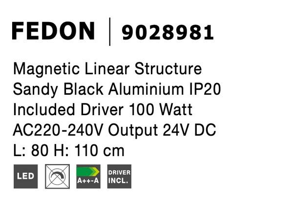Nova Luce NL-9028981 Decorative Fedon függesztett sínrendszer