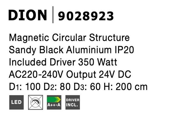 Nova Luce NL-9028923 Decorative Dion függesztett sínrendszer