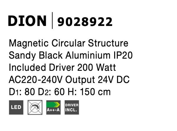 Nova Luce NL-9028922 Decorative Dion függesztett sínrendszer