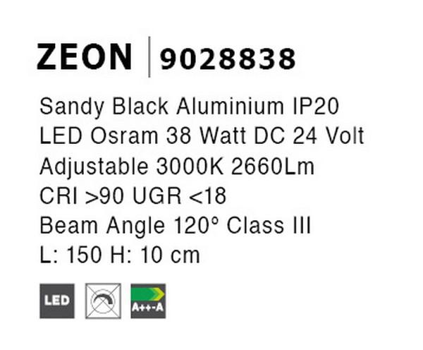 Nova Luce NL-9028838 Decorative Zeon LED sínrendszeres lámpa