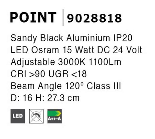 Nova Luce NL-9028818 Decorative Point LED sínrendszeres lámpa
