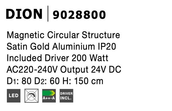 Nova Luce NL-9028800 Decorative Dion függesztett sínrendszer