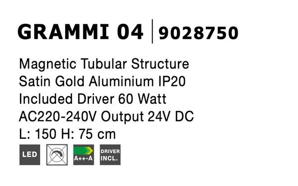 Nova Luce NL-9028750 Decorative Grammi függesztett sínrendszer