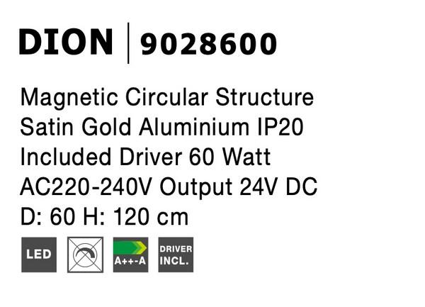Nova Luce NL-9028600 Decorative Dion függesztett sínrendszer