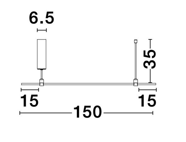 Nova Luce NL-9028348 Decorative Grammi függesztett sínrendszer