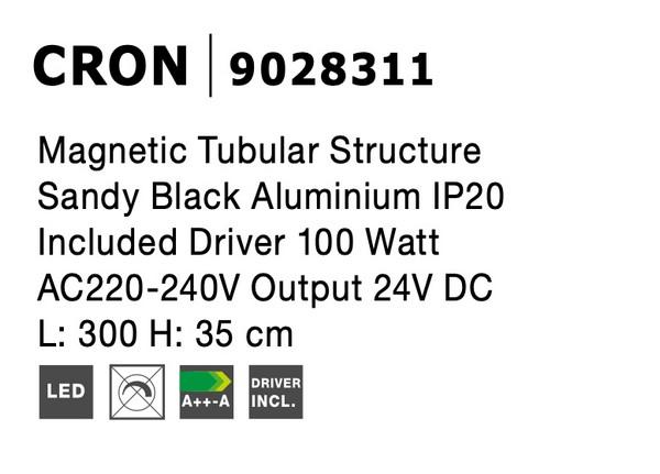 Nova Luce NL-9028311 Decorative Cron függesztett sínrendszer
