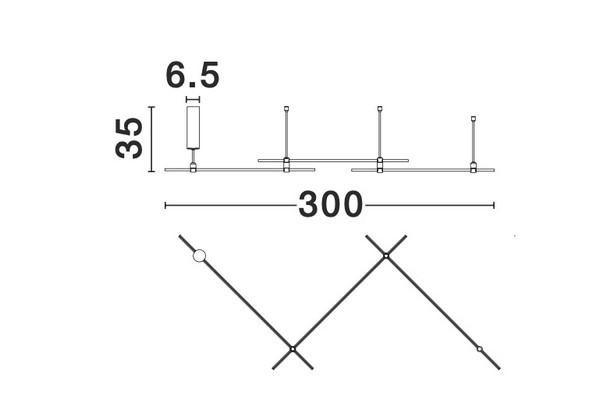Nova Luce NL-9028310 Decorative Cron függesztett sínrendszer
