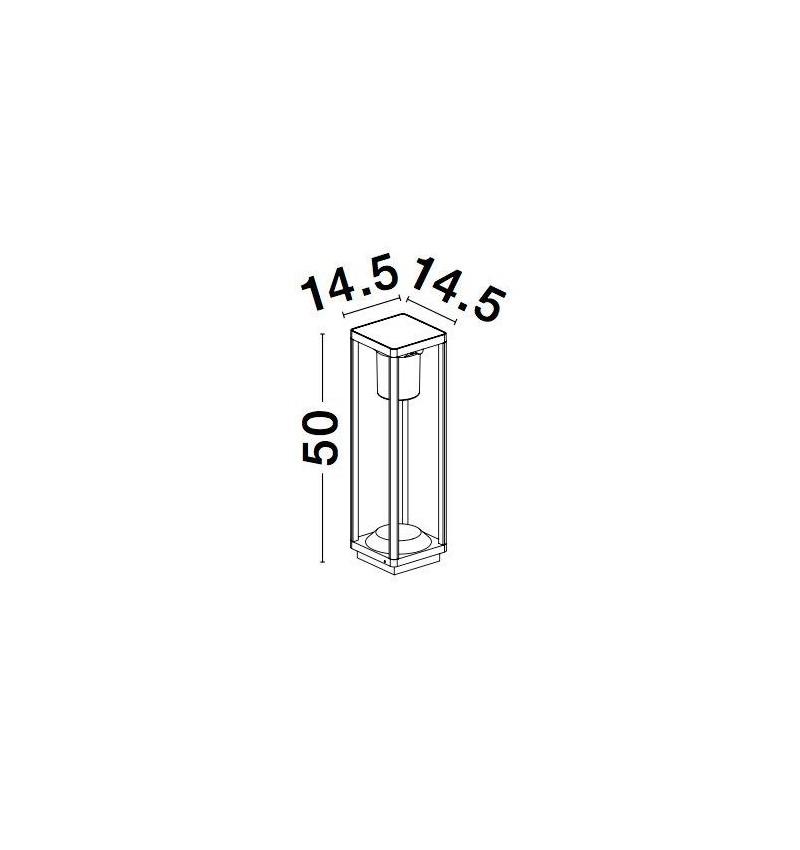 Nova Luce NL-9120622 Loveto mozgásérzékelõs kültéri LED állólámpa