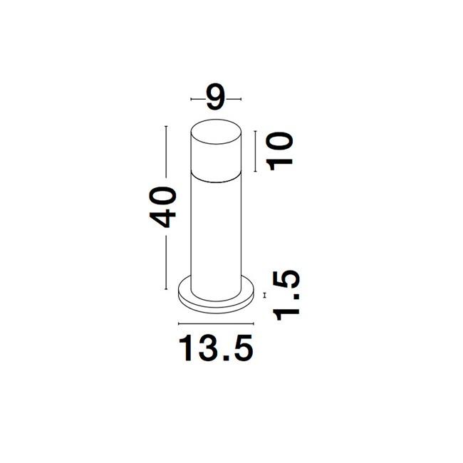 Nova Luce NL-9905022 Noten kültéri LED állólámpa