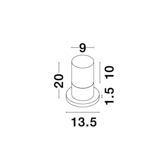 Nova Luce NL-9905023 Noten kültéri LED állólámpa