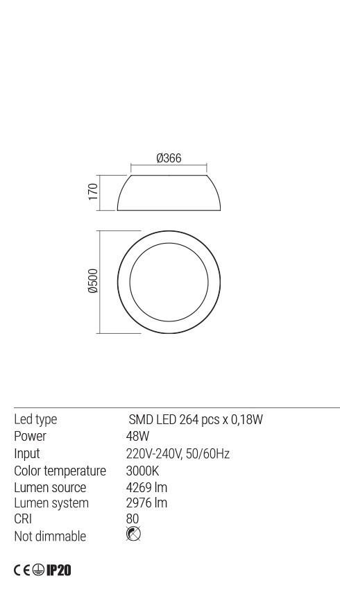 Redo 01-1726 BLAIR LED mennyezeti lámpa