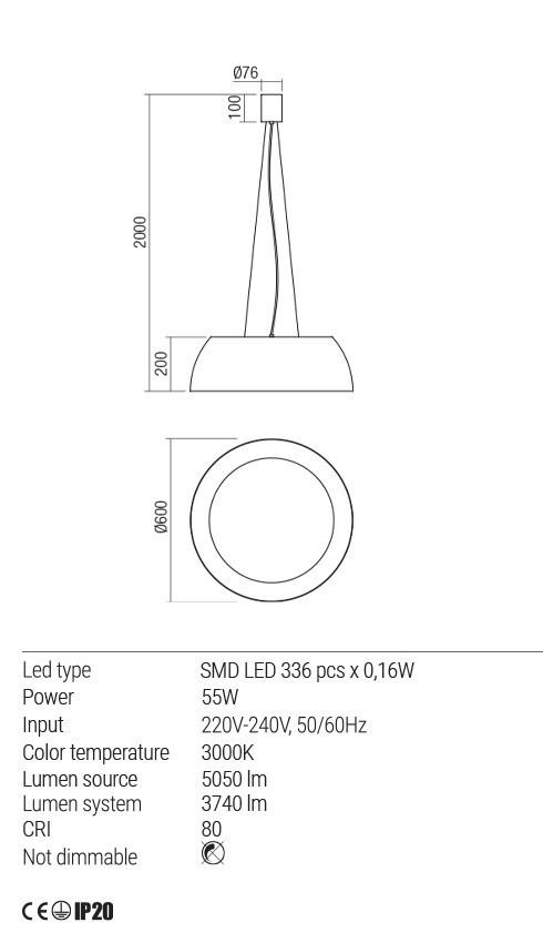 Redo 01-1732 BLAIR LED függeszték