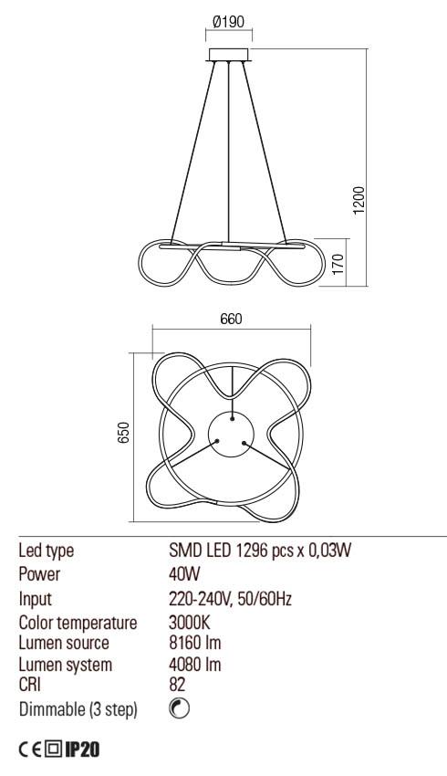 Redo 01-2111 CORRAL LED függeszték