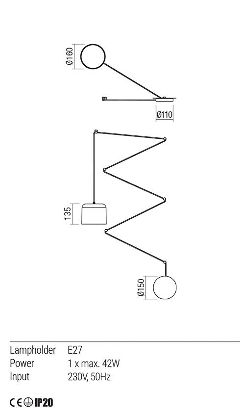 Redo 01-1822 DODO lámpa függeszték
