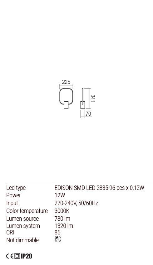 Redo 01-1505 DOM LED asztali lámpa