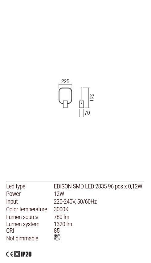 Redo 01-1506 DOM LED asztali lámpa
