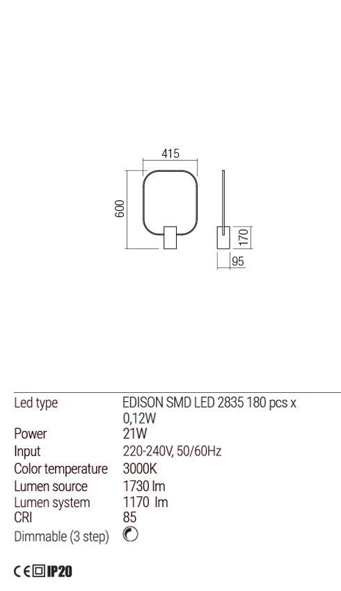 Redo 01-1226 DOM LED asztali lámpa