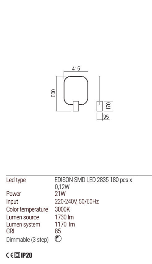 Redo 01-1227 DOM LED asztali lámpa