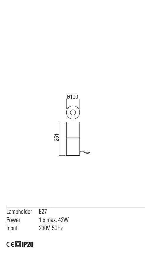 Redo 01-2028 IWI asztali lámpa