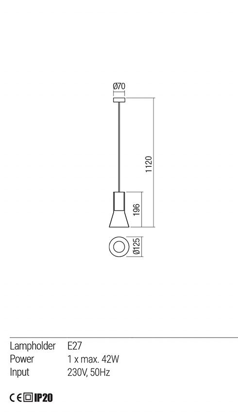 Redo 01-1688 JANO lámpa függeszték