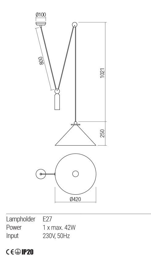 Redo 01-1546 KALIMBA lámpa függeszték