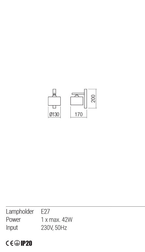 Redo 01-1549 MILLER fali lámpa