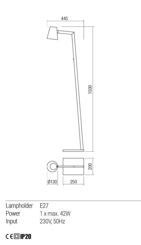Redo 01-1557 MINGO állólámpa