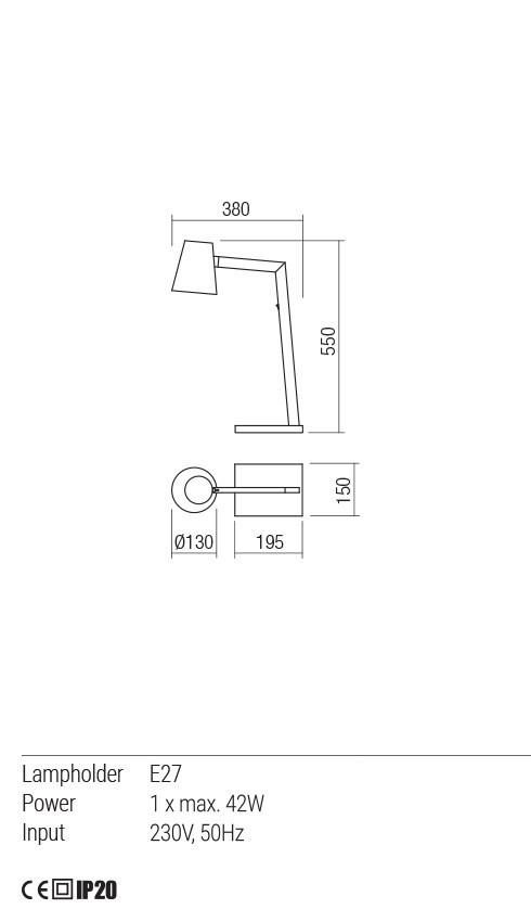 Redo 01-1558 MINGO asztali lámpa