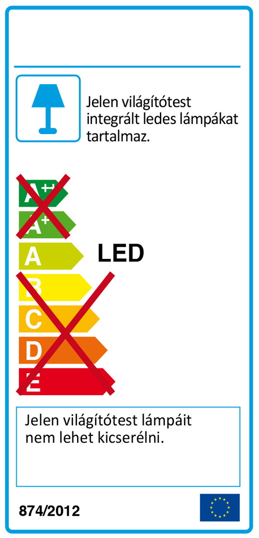 Redo 01-1529 NUBO LED fali lámpa