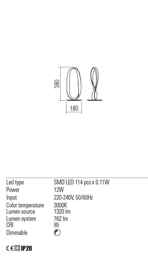 Redo 01-2087 NUBO LED asztali lámpa