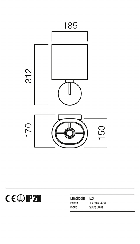Redo 01-1150-BR-SCW-BG PICCADILLY falikar