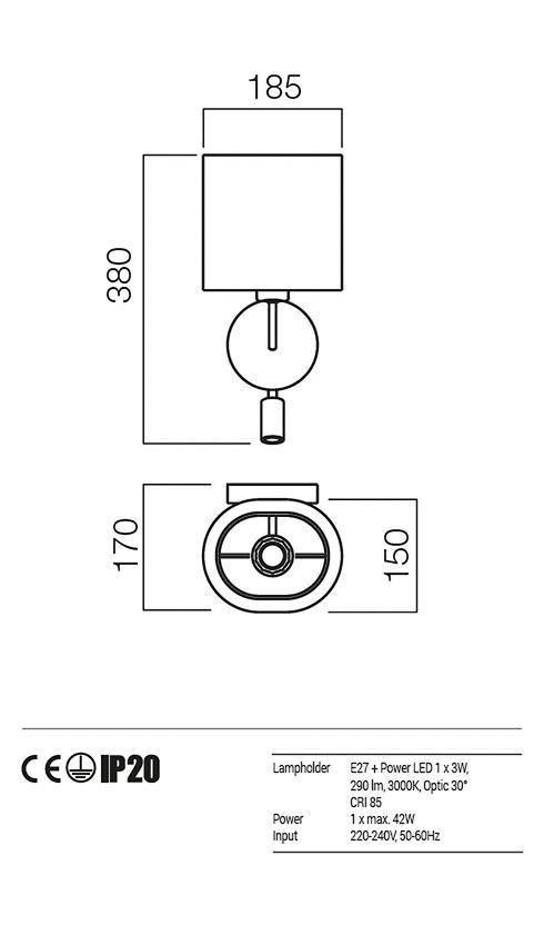 Redo 01-1151-BR-SCW-BG PICCADILLY falikar