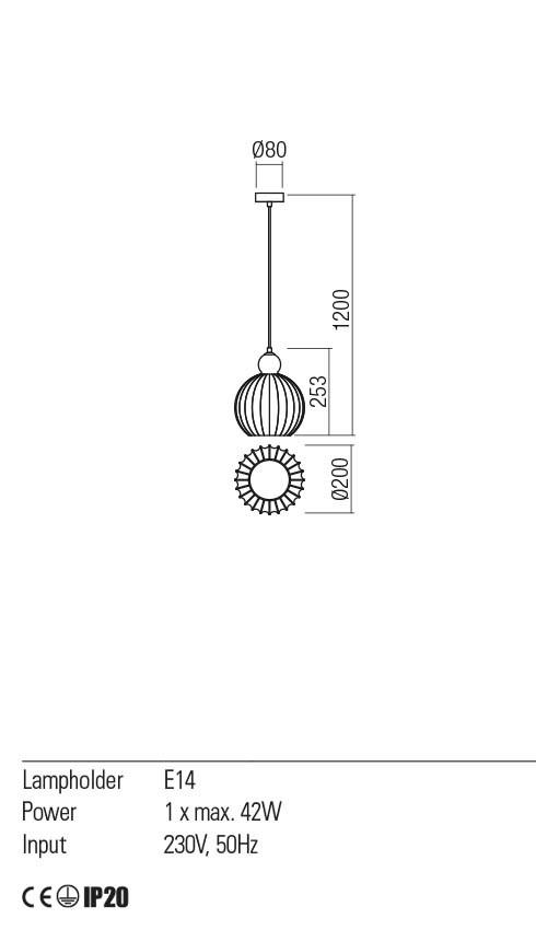 Redo 01-2067 PLUMEN lámpa függeszték
