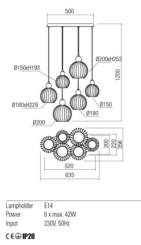 Redo 01-2068 PLUMEN lámpa függeszték