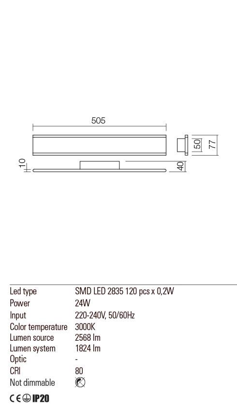Redo 01-2301 RAIL LED fali lámpa