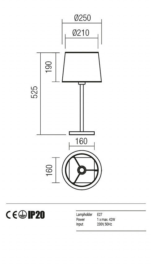 Redo 01-1148-SN-SCTR-IV SAVOY asztali lámpa