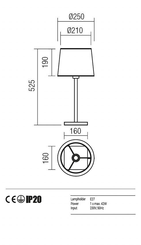 Redo 01-1148-SN-SPTR-BG SAVOY asztali lámpa