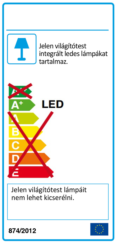 Redo 01-1738 SHAKER LED fali lámpa