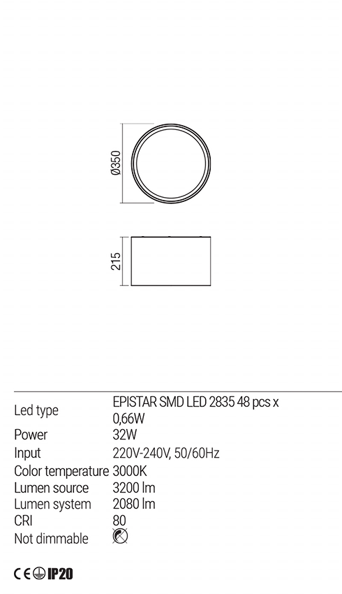 Redo 01-1536 TAPPER LED mennyezeti lámpa