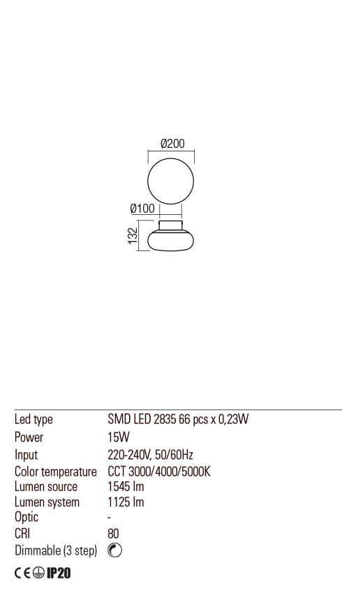 Redo 01-2229 UBIS LED fali / mennyezeti lámpa