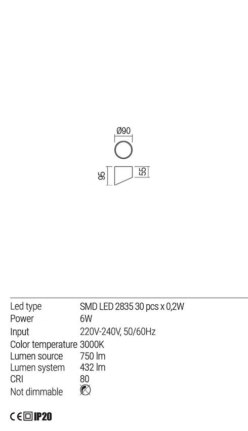 Redo 01-1625 UTO LED mennyezeti lámpa