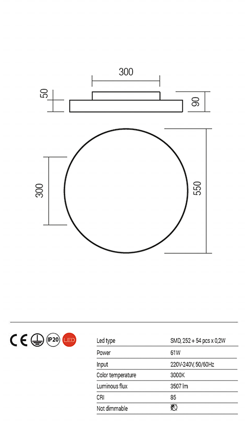 Redo 01-1128 ZOOM LED mennyezeti lámpa