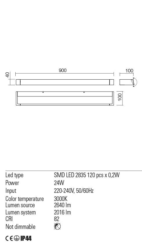 Redo 01-2295 FLIPPER LED fürdőszobai lámpa