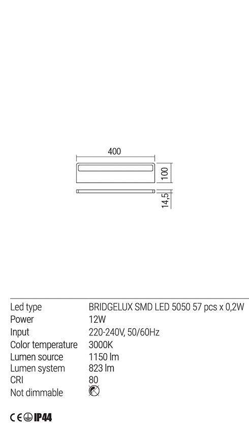 Redo 01-1766 KU LED fürdőszobai lámpa