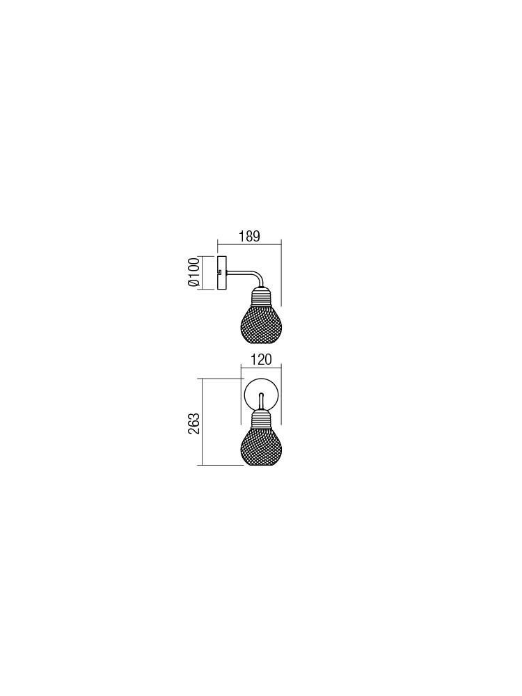 Smarter 01-1575 EDISON Fali lámpa