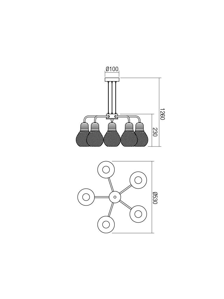 Smarter 01-1580 EDISON lámpa Függeszték