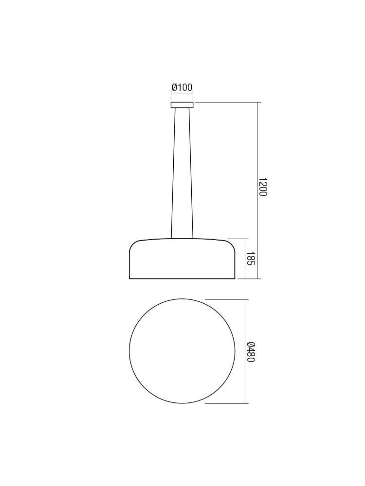 Smarter 01-1587 EQUIPO lámpa Függeszték