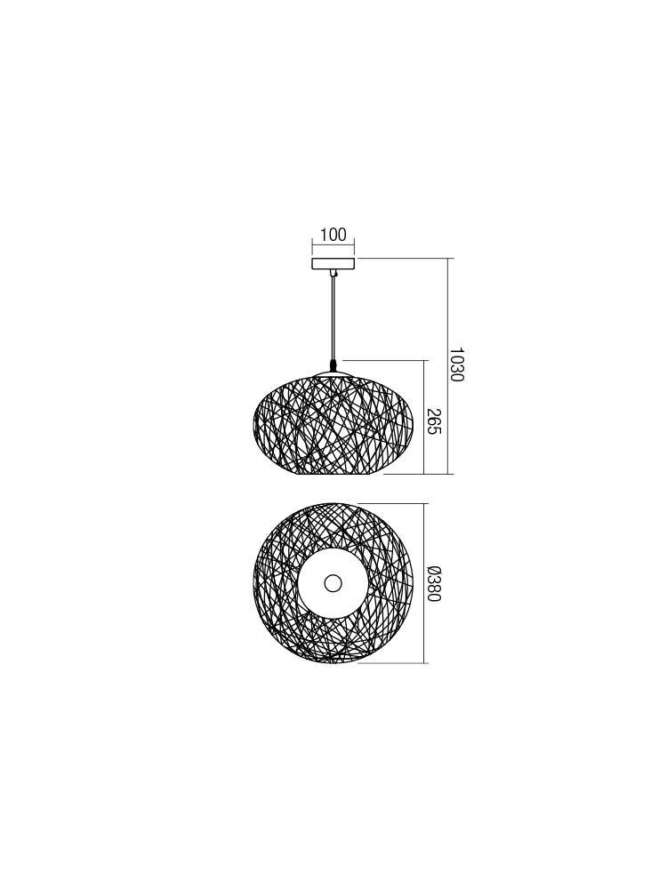 Smarter 01-1516 FILOS lámpa Függeszték