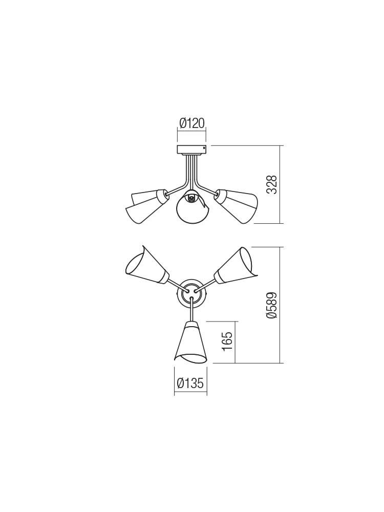Smarter 01-2193 INDUA Mennyezeti lámpa